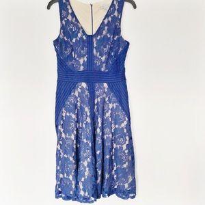 Danny & Nicole Blue Lace Dress